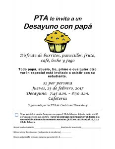 Breakfast with Dads 2017 Flyer Spanish FINAL
