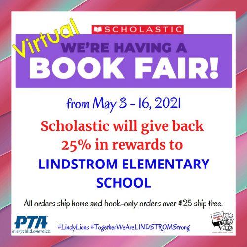 SCHOLASTIC Virtual Book Fair (May 3-16, 2021)